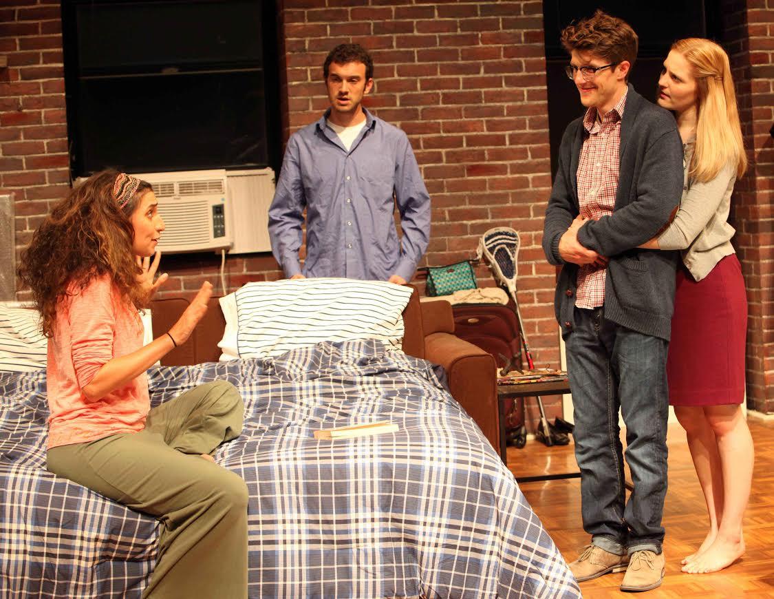 "Rebecca Benhayon, Kenny Toll, Max Rosenak, & Riley Krull in ""Bad Jews."""