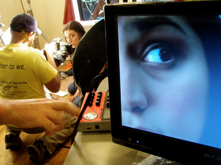 "#CloseUpandTerrified in the award winning web series, ""Apt 1B"", directed by Dodd Loomis."