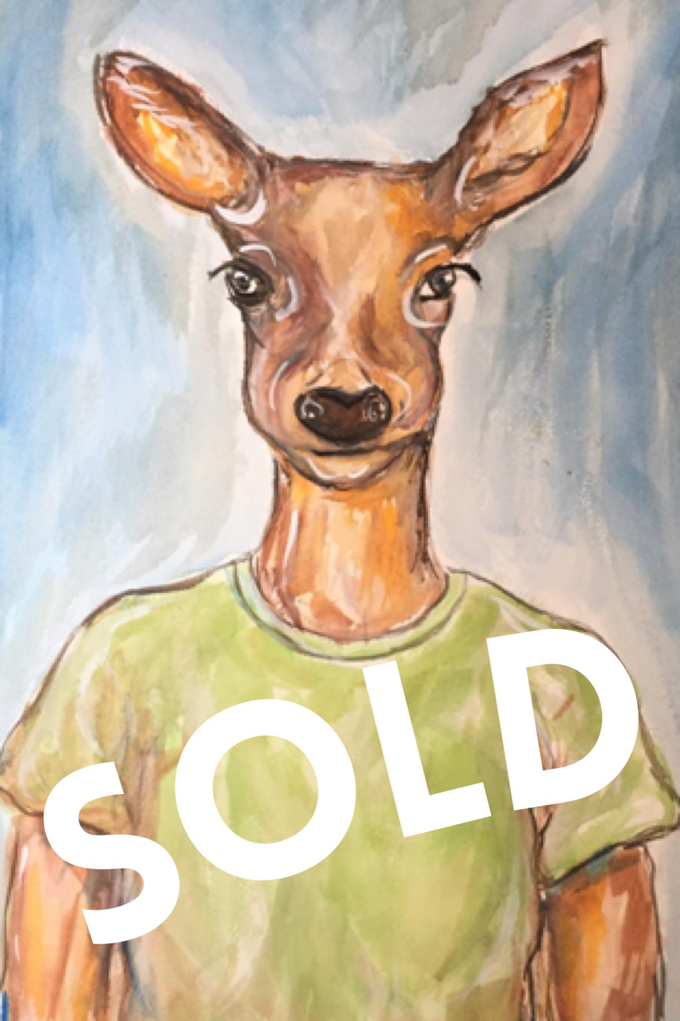 A Deer friend - SOLD
