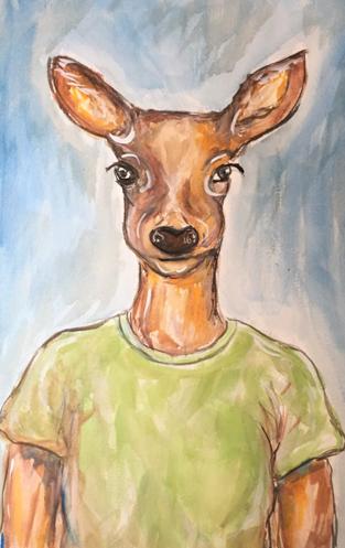 A Deer Friend : SOLD