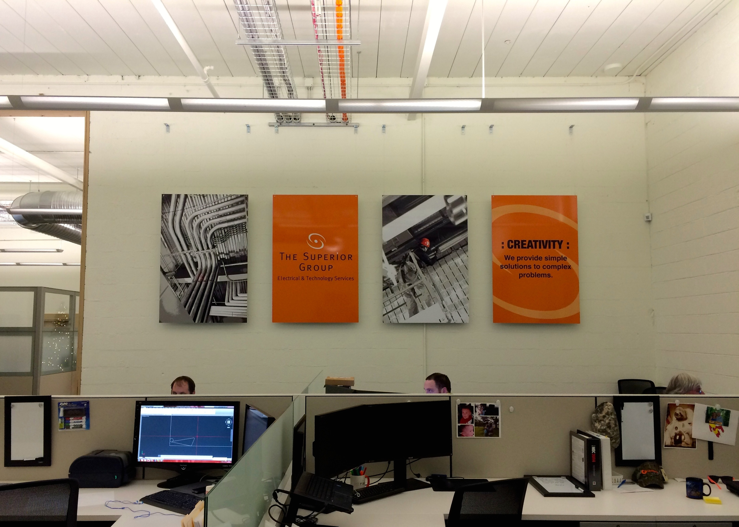 Interior Wall Graphics for The Superior Group Columbus, OH