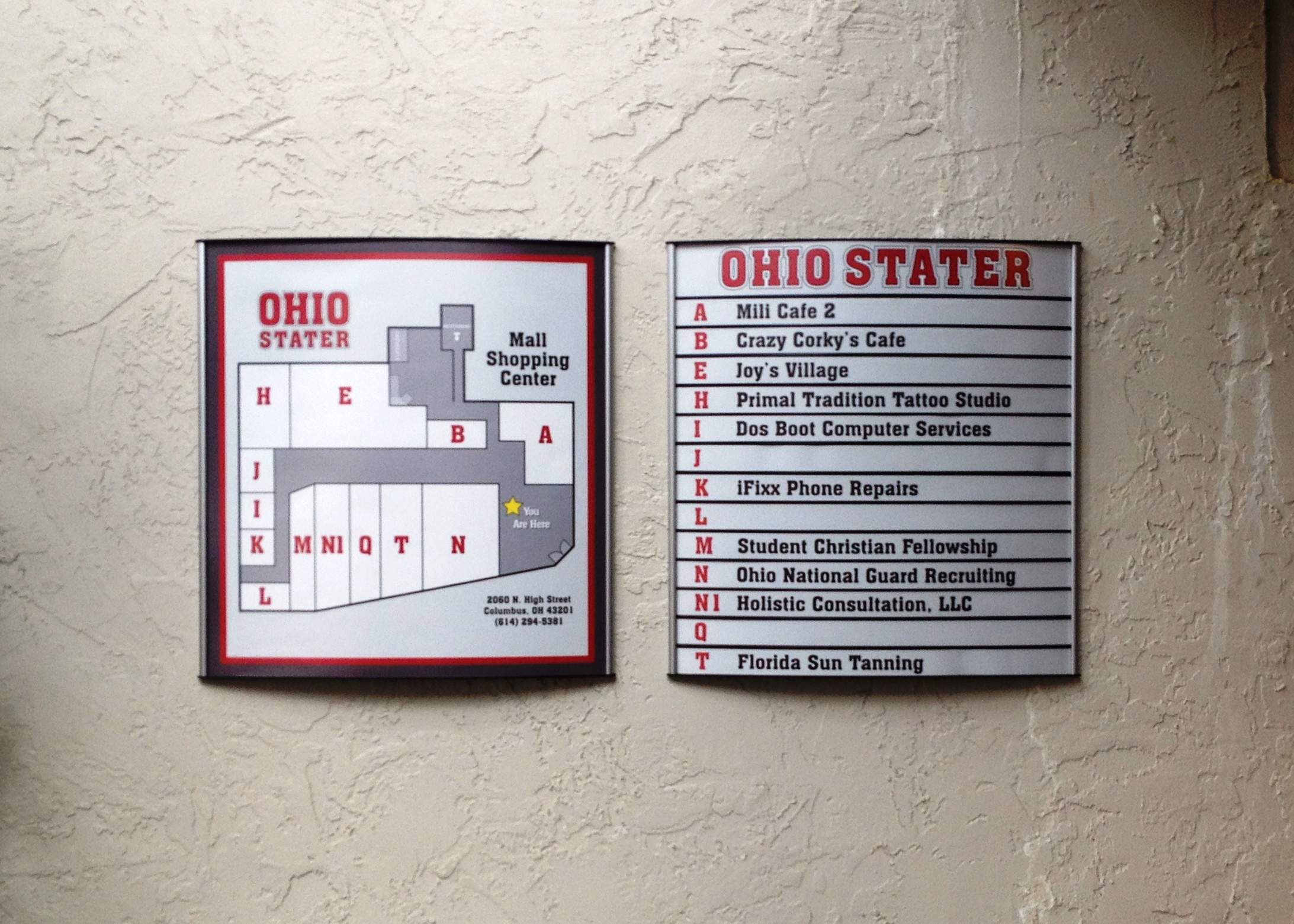 Exterior Directory Signage for The Ohio Stater in Columbus, OH