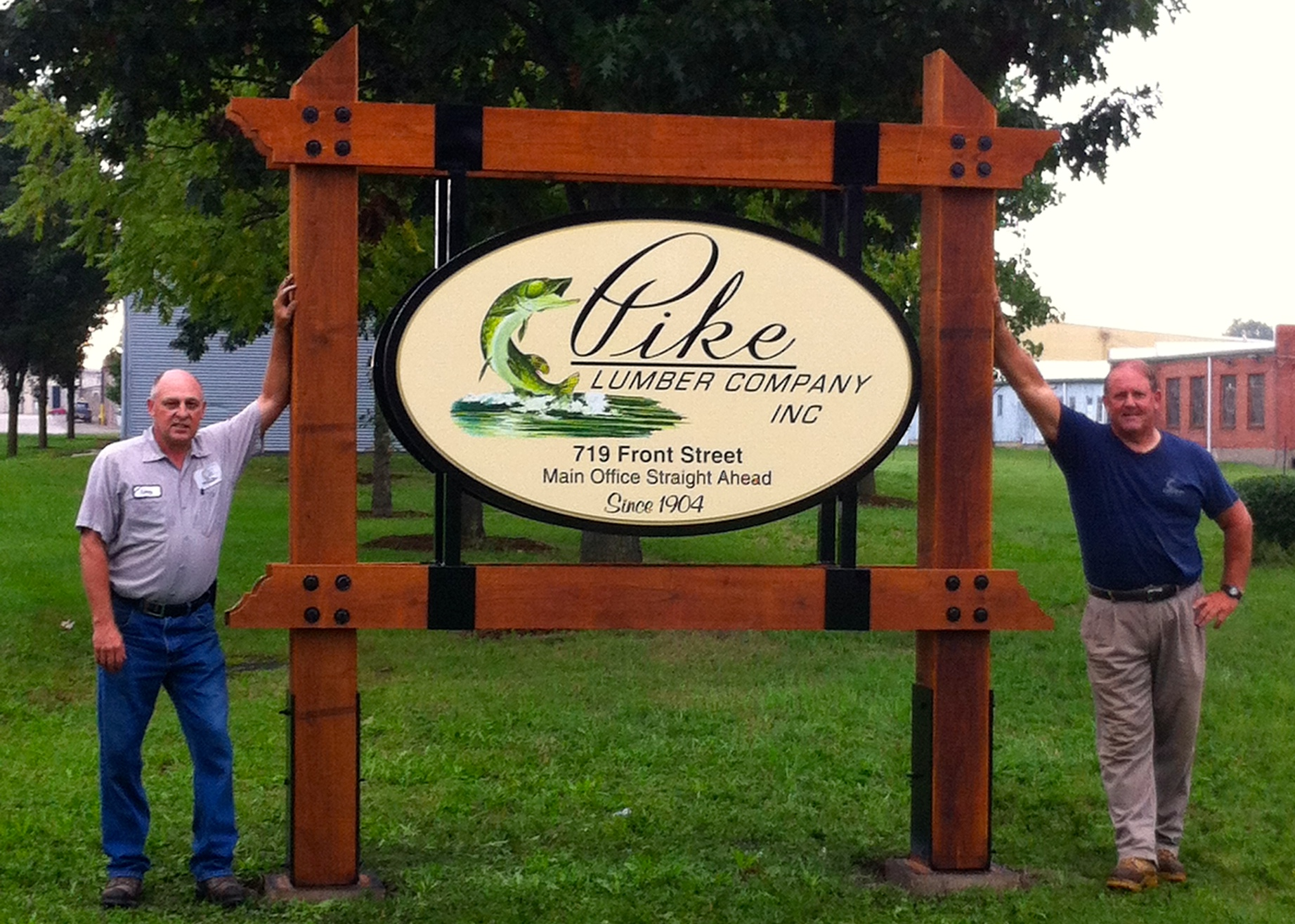 Digitally Printed Monument Sign for Pike Lumber Company Inc.
