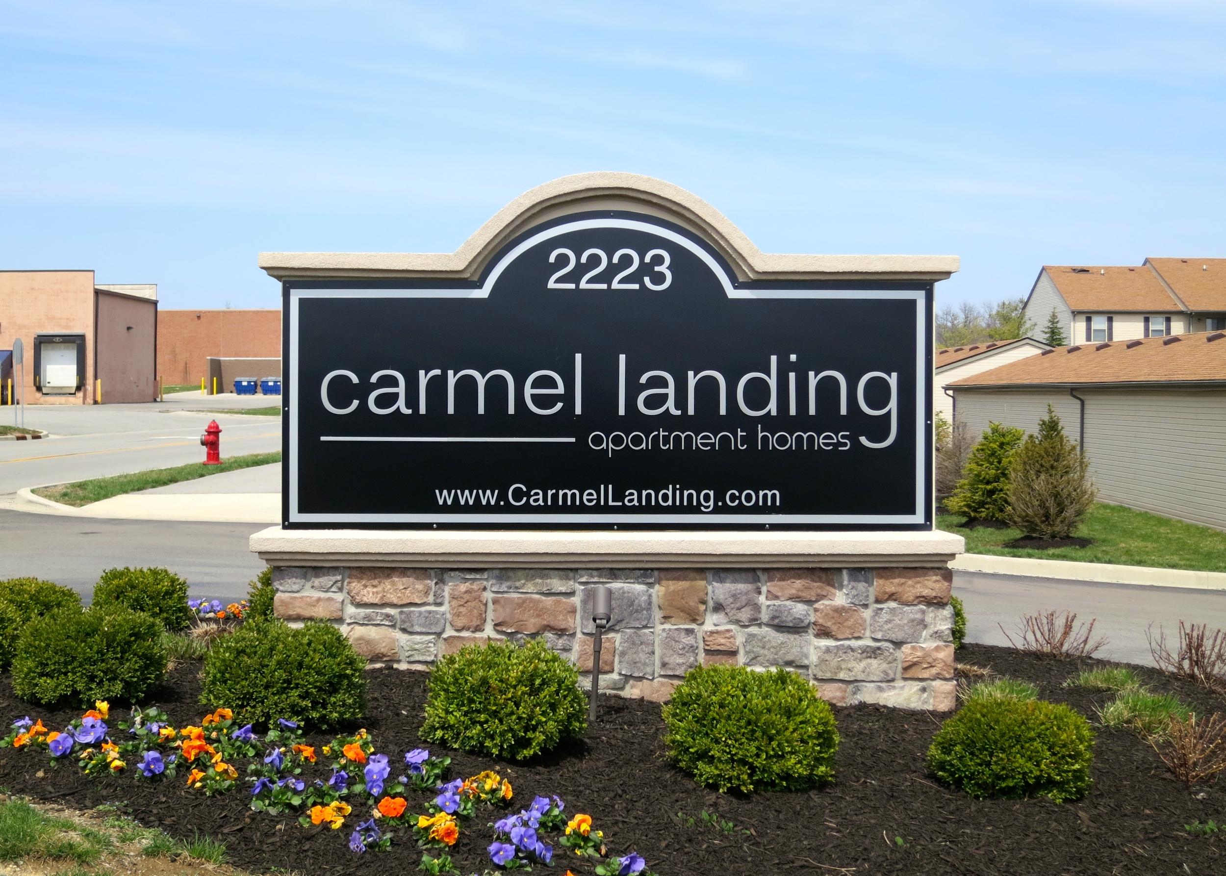Monument Sign for Carmel Landing Apartment Homes