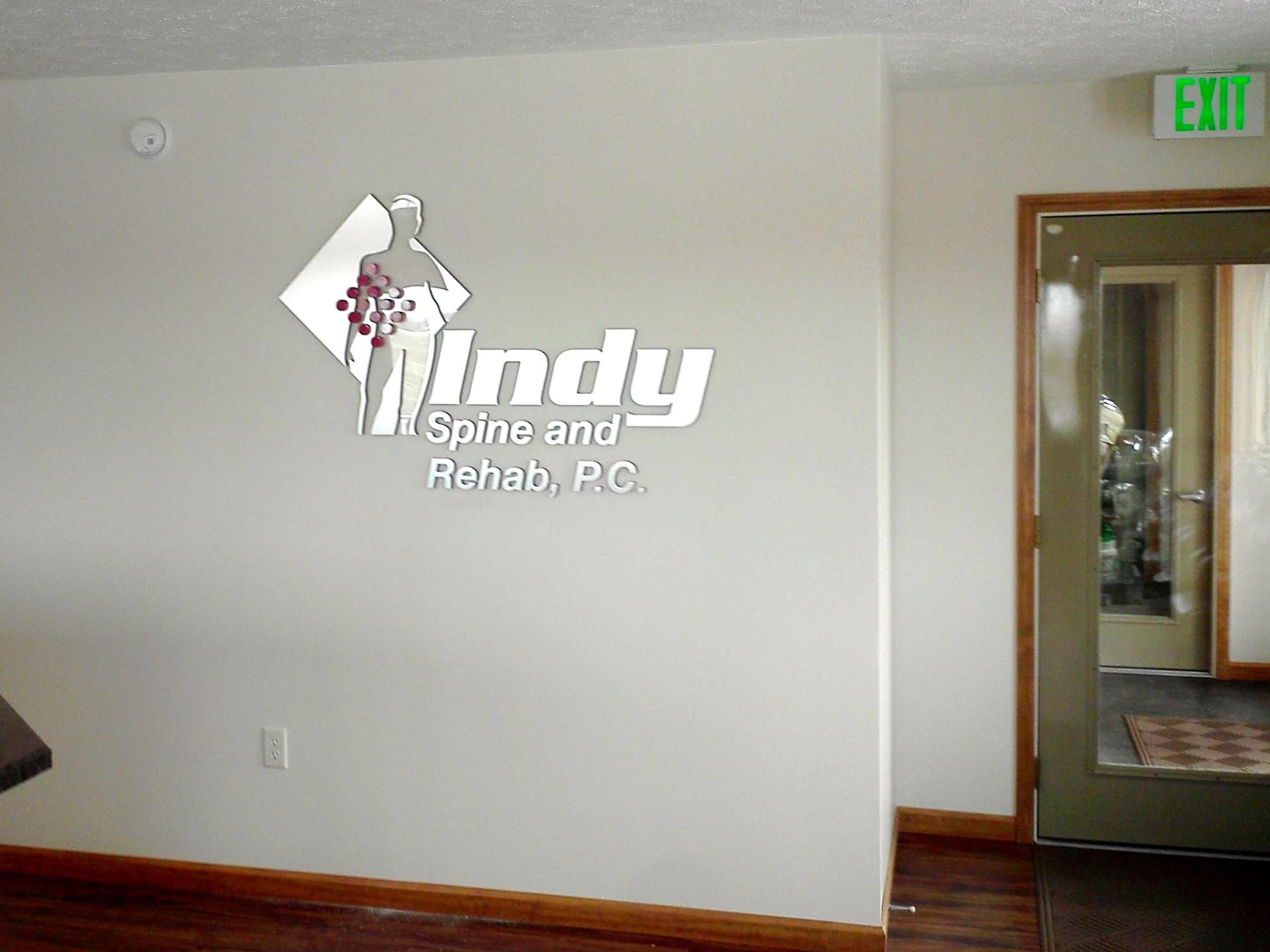 Interior Dimensional Letters Wall Logo for Indy Spine and Rehab