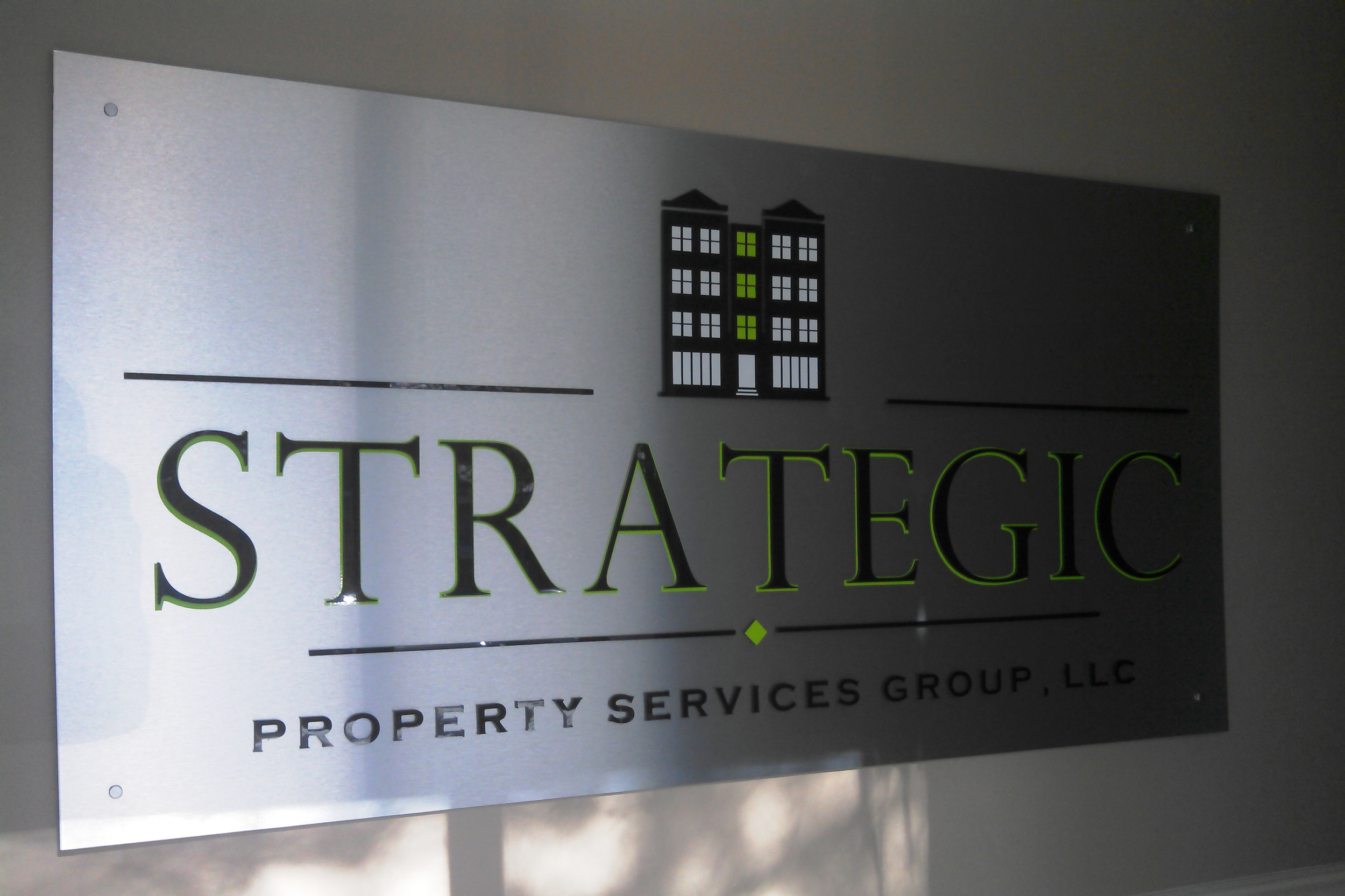 Interior Wall Logo for Strategic Property Services