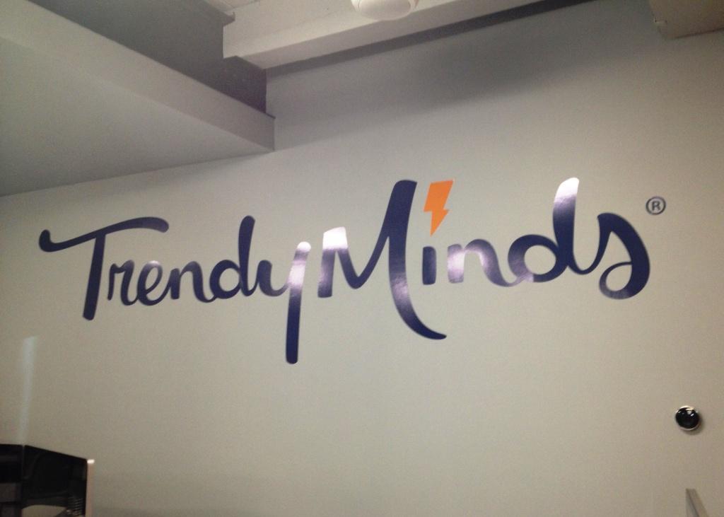 Interior Vinyl Wall Logo for Trendy Minds
