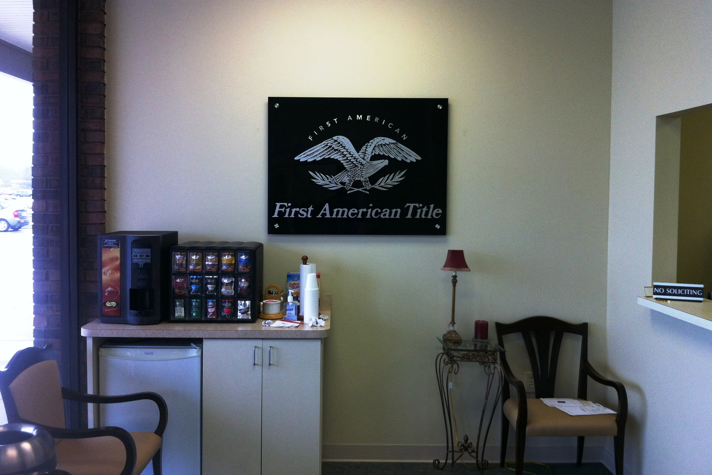 Interior Wall Logo for First American Title