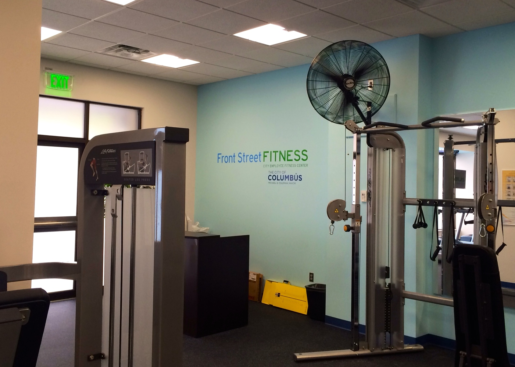 Vinyl Cut Wall Logo for Front Street Fitness