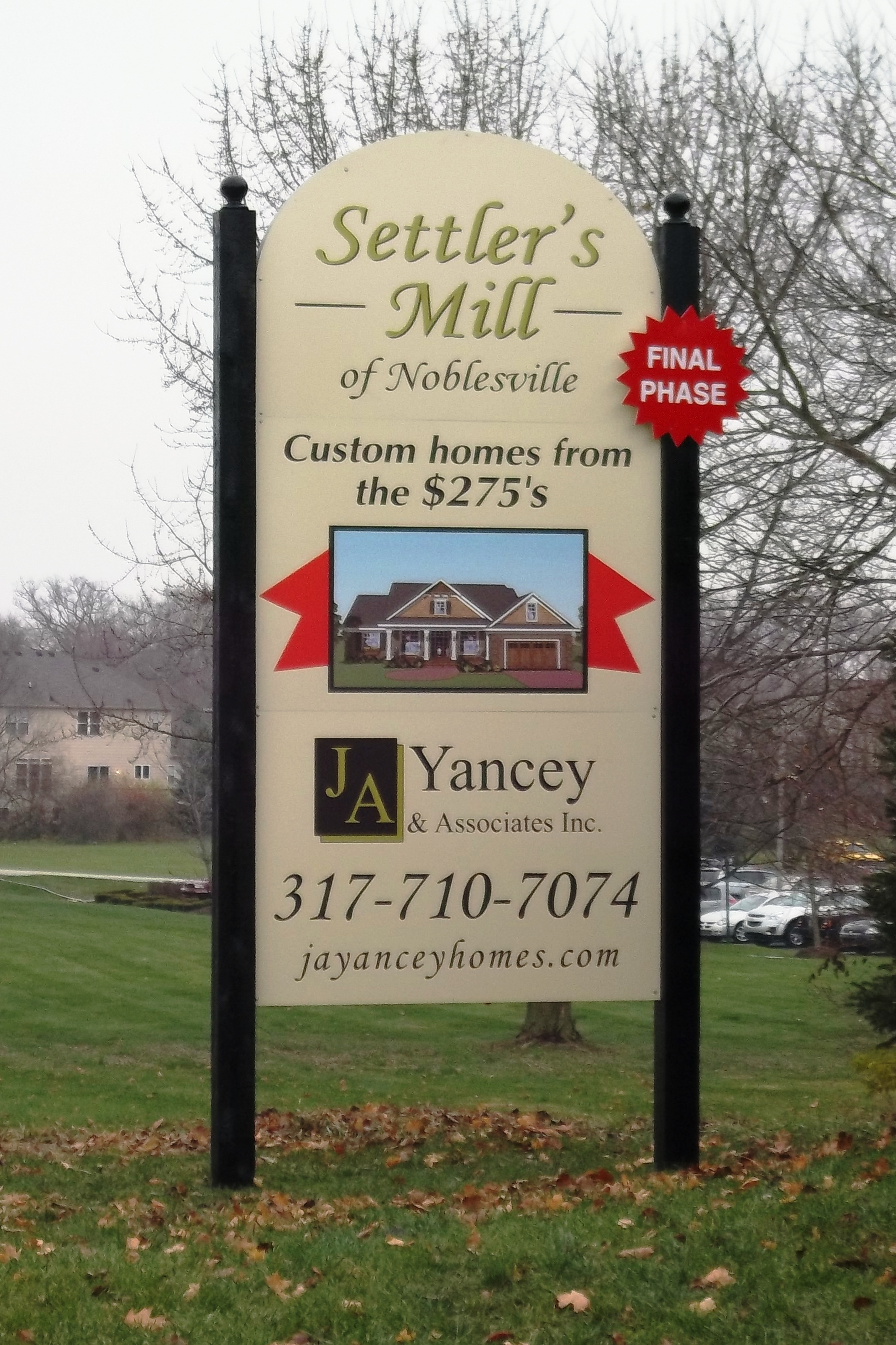 Post and Panel Marketing Sign Settler's Mill