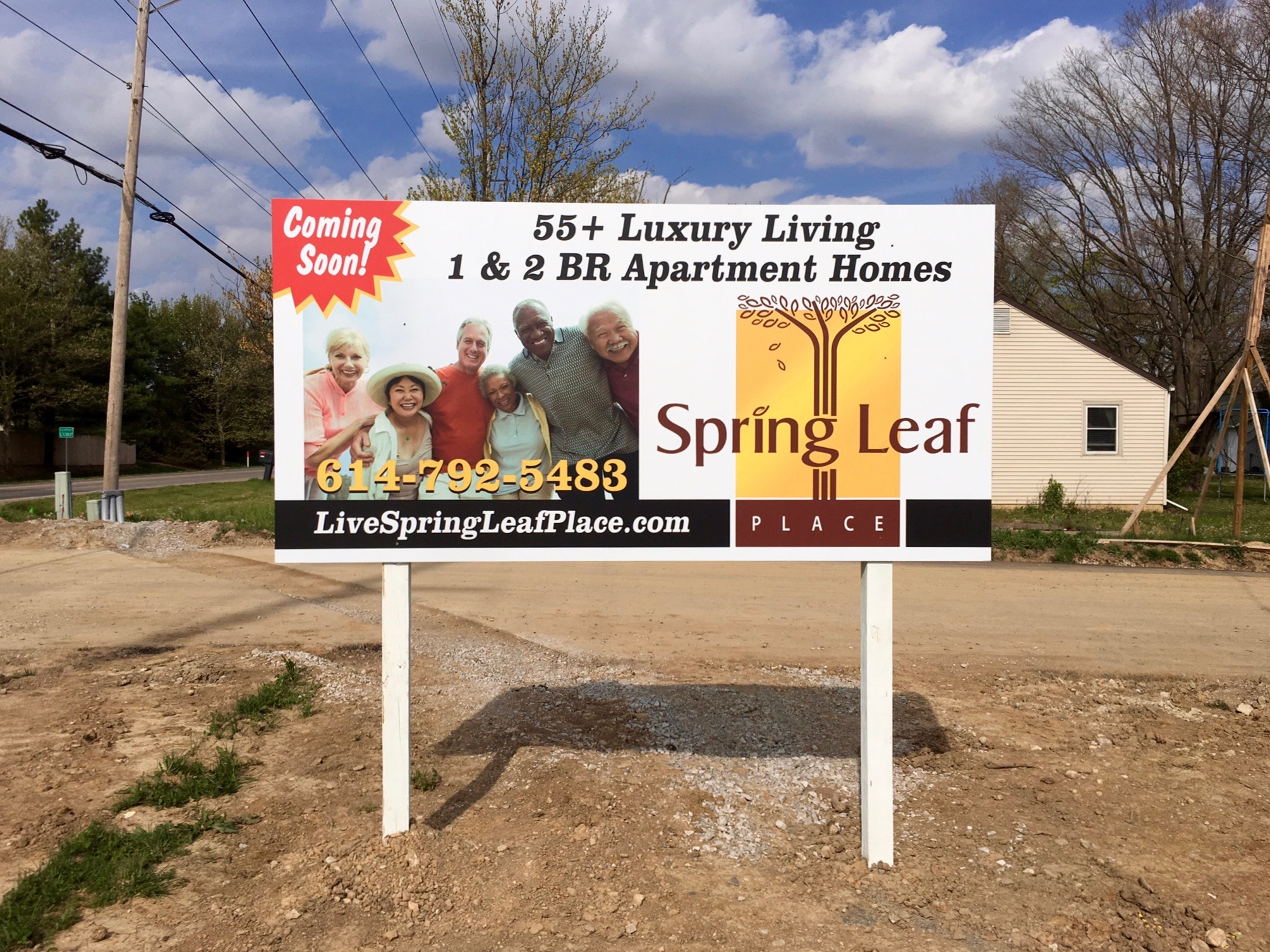 Spring Leaf Place Marketing Sign