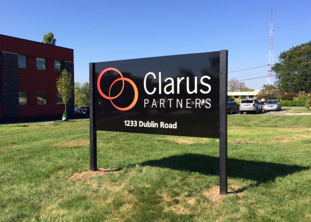 Clarus Partners Entry Monument Sign