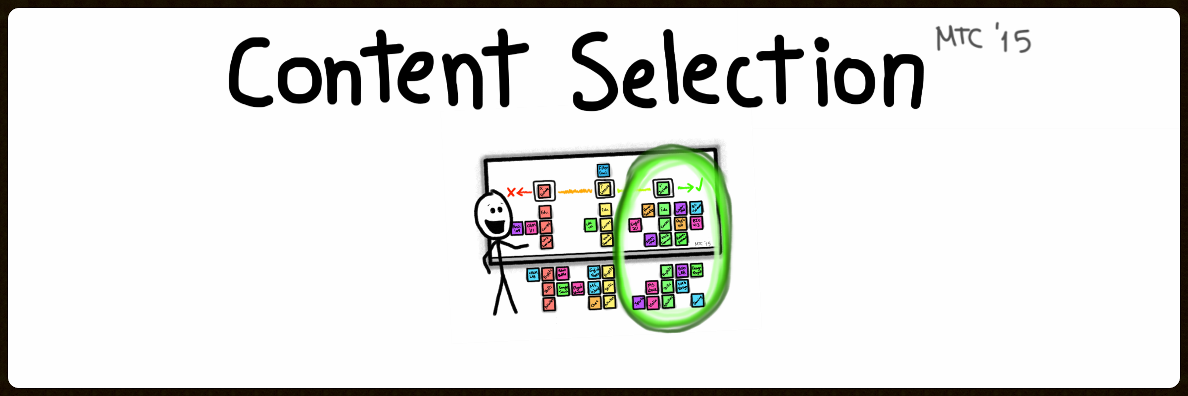 Content Selection Tutorial Video