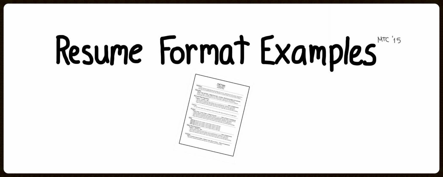 """Links to tons of format examples! Remember there is no """"one-size-fits-all"""" solution.Take inspiration from others and make your own format even better!"""
