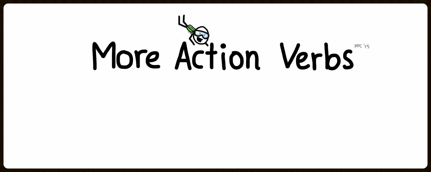 The action verblist is too big to take up all that space inthe book! Find more inspiration here!