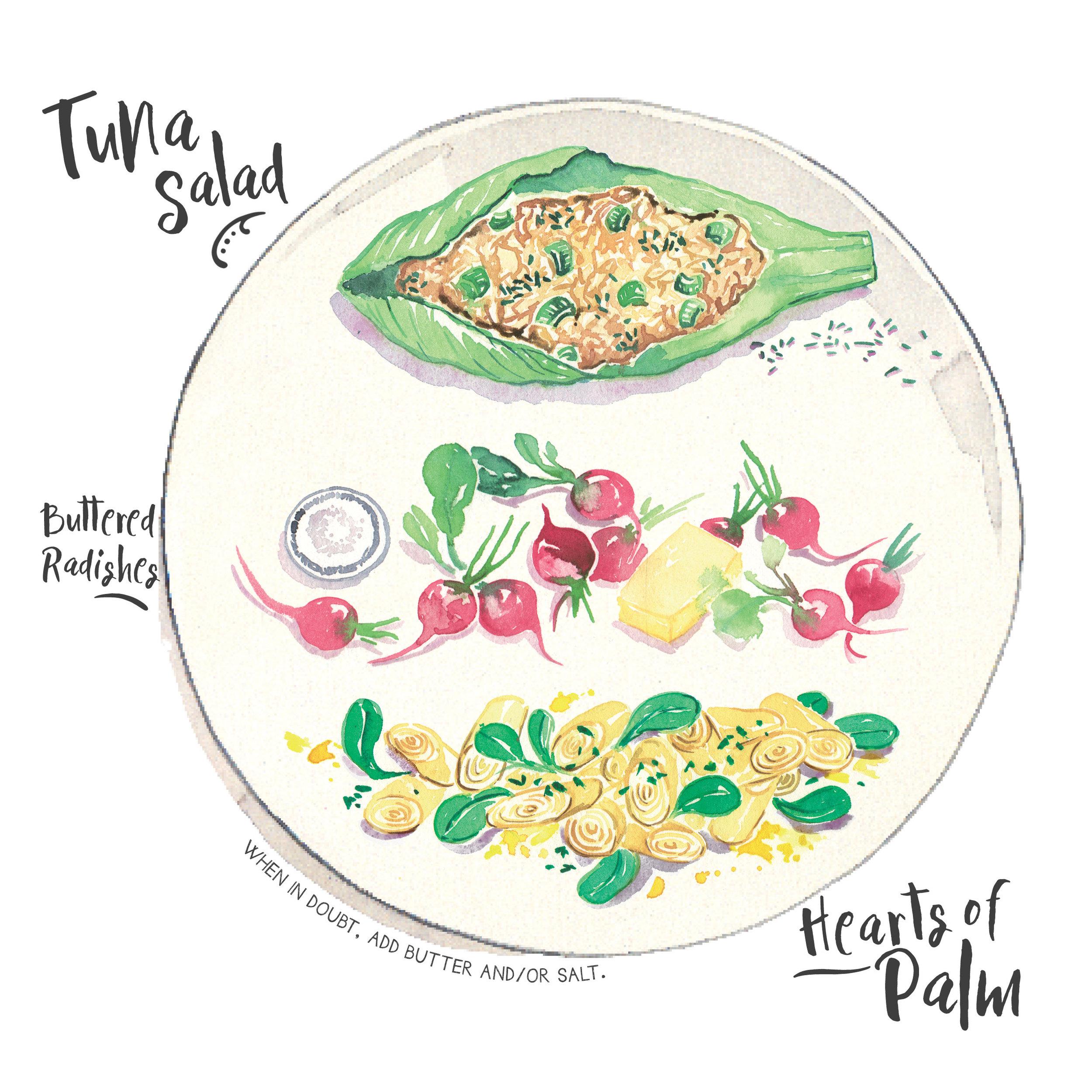 tuna salad radish palm.jpg