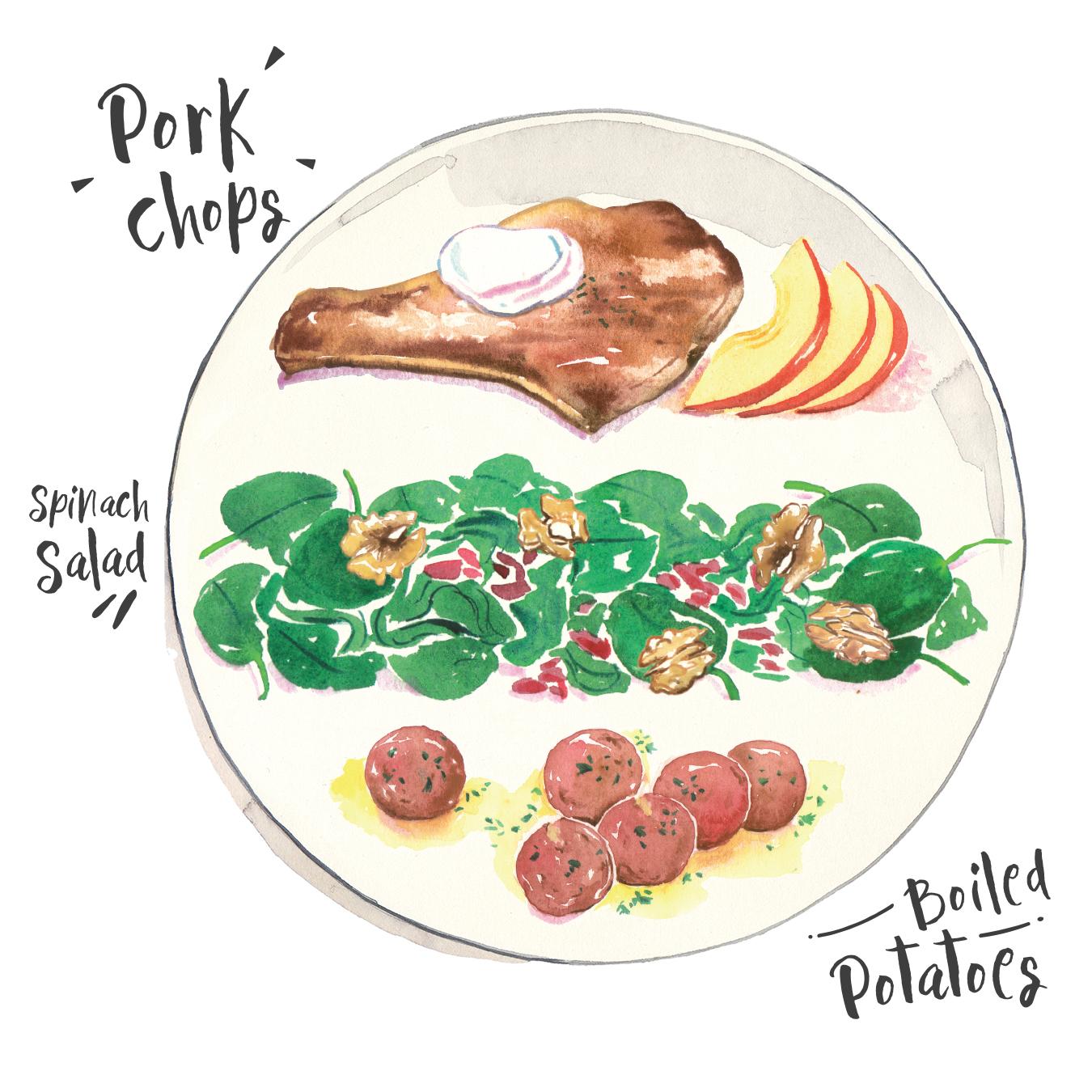 pork chops-spinach salad-boiled potatoes.jpg