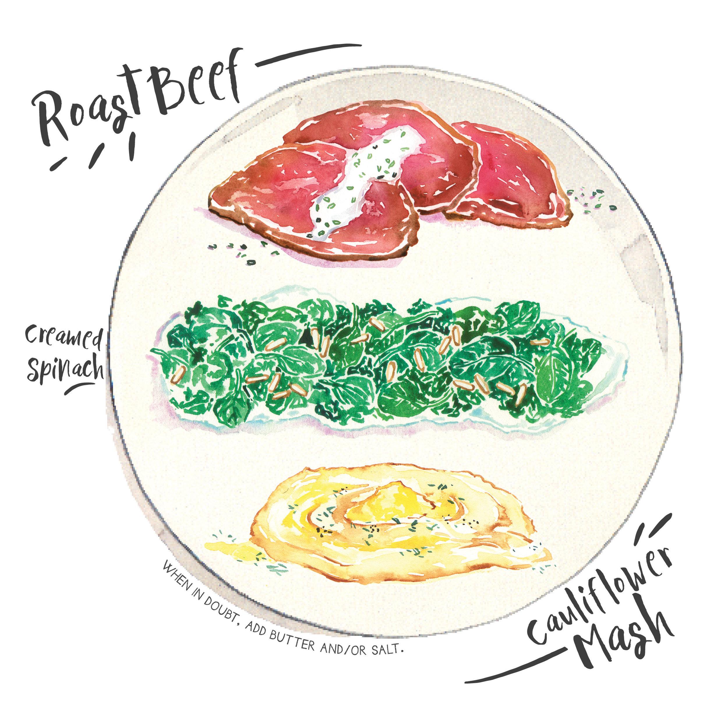 roast beef creamed spinach cauliflower mash.jpg