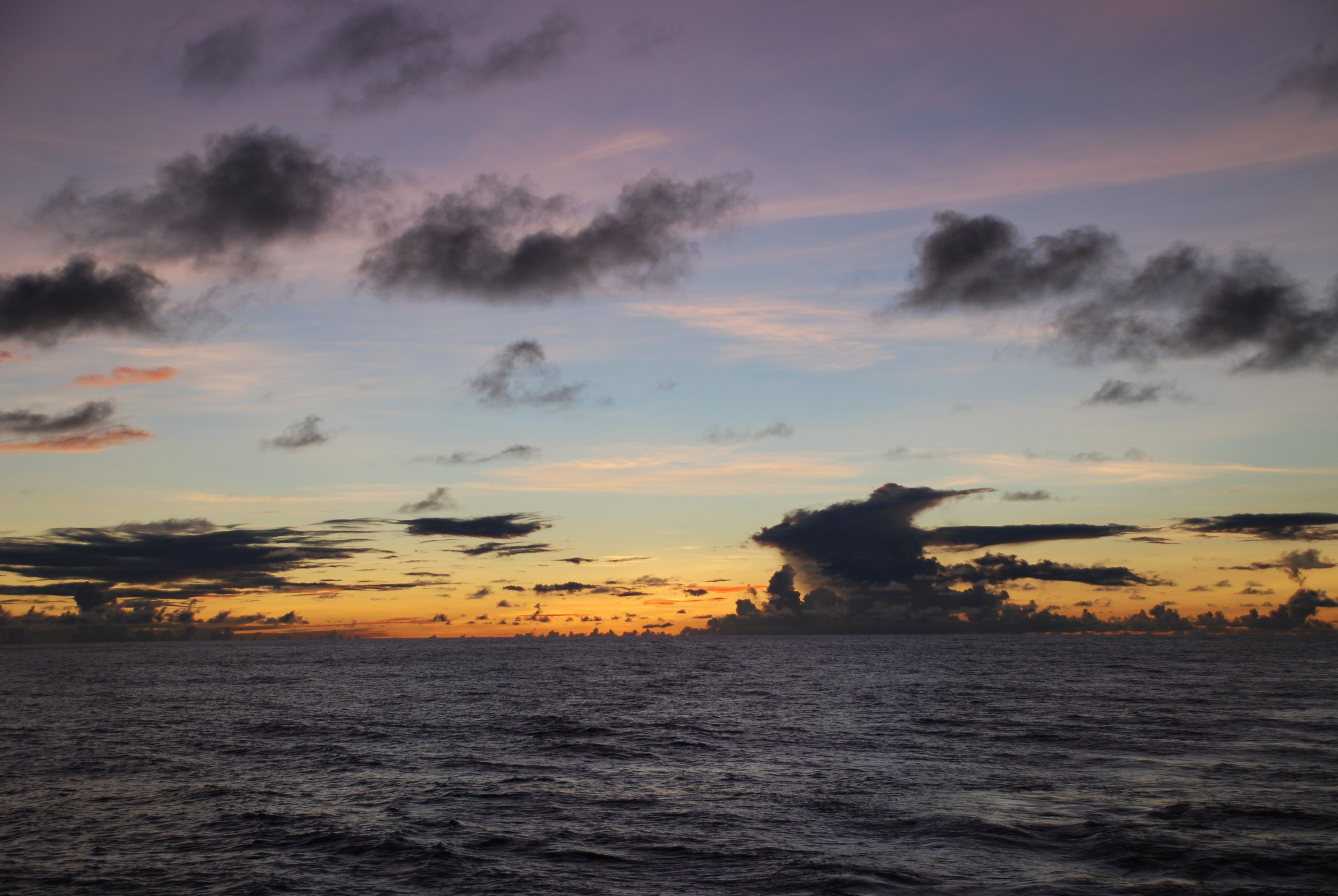 Sunrise over the Mariana Trench