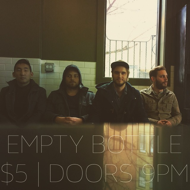 Waiting patiently at the fantastic @holidayjoneschi to play at the EMPTY BOTTLE tonight! DOORS AT 9PM | $5. Also, we can't wait to share a couple new songs with you tonight! Buy tickets here:  http://m.ticketweb.com/t3/sale/SaleEventDetail?dispatch=loadSelectionData&eventId=5463875&pl=eb&REFID=bottle