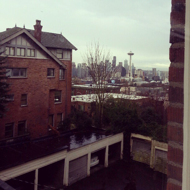 Had a great morning playing Visit Seattle's Holiday event!  Now, rehearsal with a view…