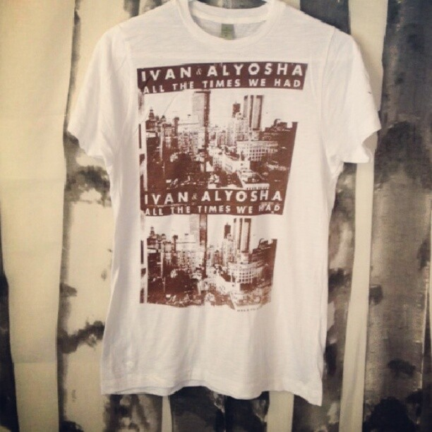 Fresh new T's up in the I&A online merch store! !   http://ivanandalyosha.bigcartel.com/