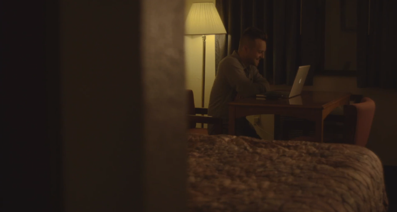 """Life on the road can be grueling, so we love when we have a moment to sit down and have some personal time. Find out what Tim is doing on his computer in our new music video for """"The Fold"""", premiering tomorrow!"""