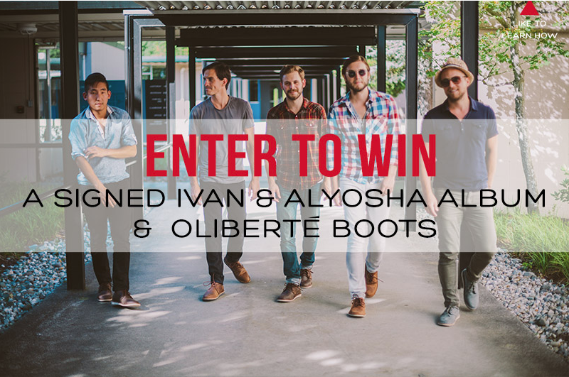 Oliberté has established a giveaway contest to win an autographed album from us and a pair of Oliberté boots! Head over to  Olibertés Facebook page  and submit your email address there for a chance to win!