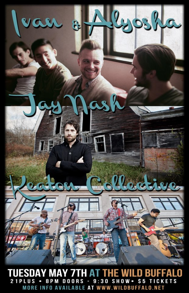 Tonight we're playing at Wild Buffalo in Bellingham at 9:30pm with Keaton Collective and Jay Nash! Tickets  HERE .