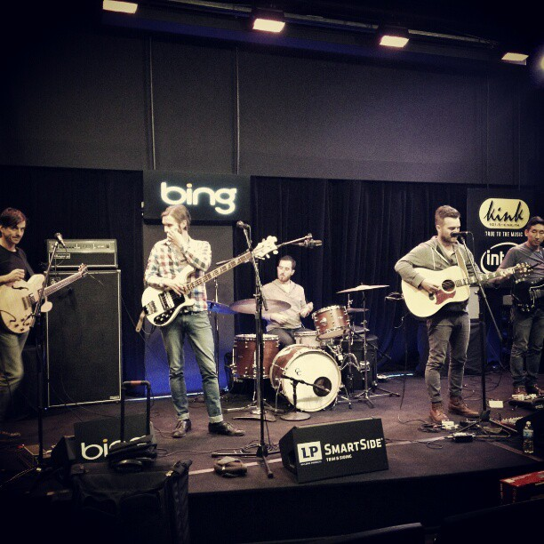 Last day of tour!! Soundcheck at Bing Lounge in Portland.