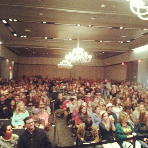 Great early morning crowd at the W Hotel in Austin for 93.3 KGSR #SXSW Live Broadcast