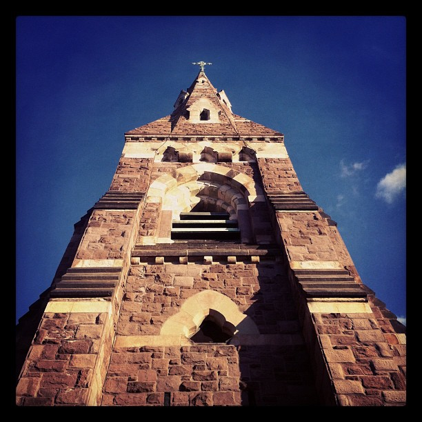 Here is the steeple (Taken with  instagram )