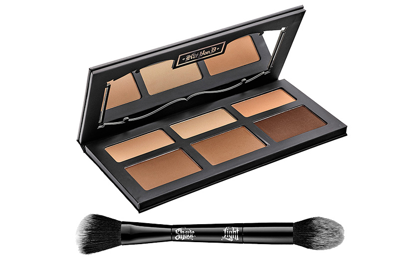 Kat Von D Shade + Light Contour Palette,  $55 , and Contour Face Brush,  $43, at Sephora