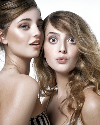 Daughters Taylor and Ally Frankel, also the faces of Nudestix