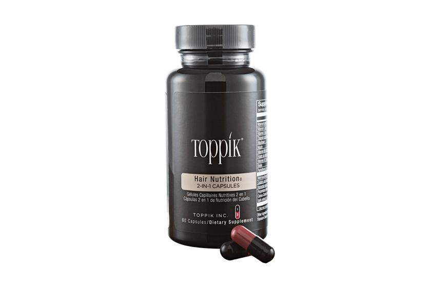 Toppik Hair Nutrition 2-in-1 Capsules, $20, toppik.com