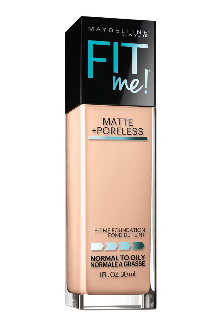 Maybelline Fit Me! Matte+ Poreless Foundation, $10, at drugstores