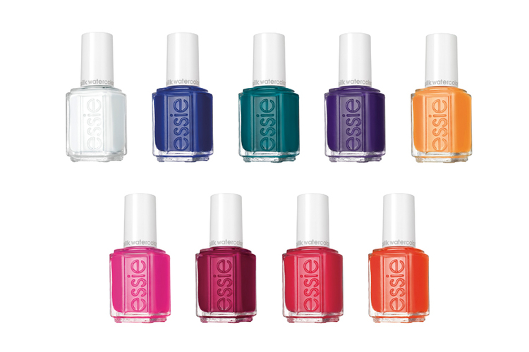 Essie Silk Watercolour Collection, $9 each at salons