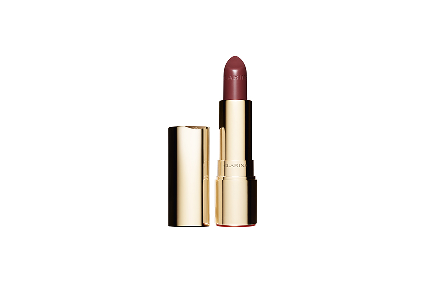Clarins Joli Rouge Lipstick in Spicy Cinnamon, $27, at department stores