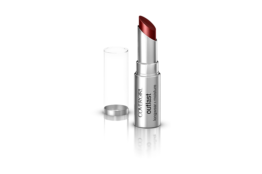 CoverGirl Outlast Lipstick in Amazing Auburn, $12, at drugstores