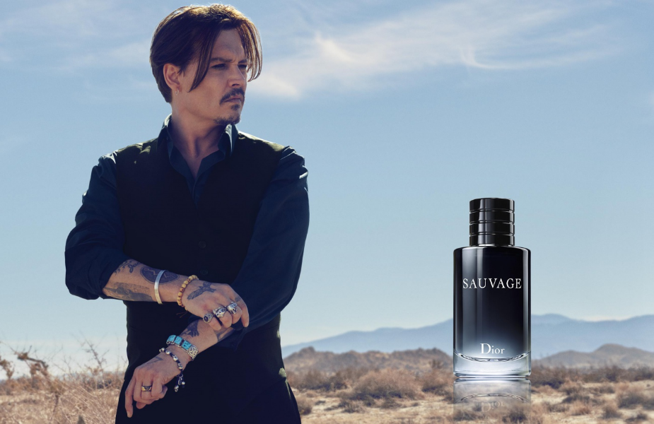Actor Johnny Depp for Dior Sauvage