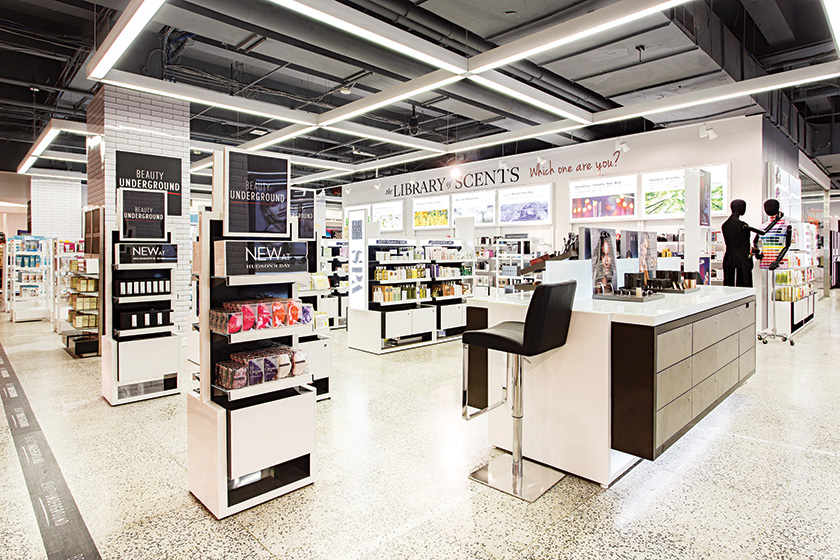 The new Beauty Underground located at Hudson's Bay Queen Street in downtown Toronto