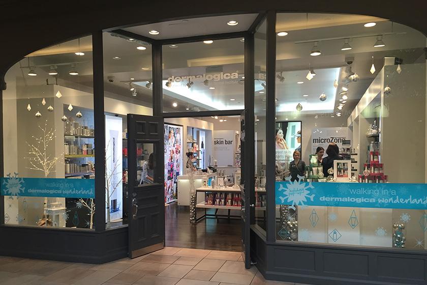 Dermalogica's Toronto holiday pop-up shop at Bayview Village
