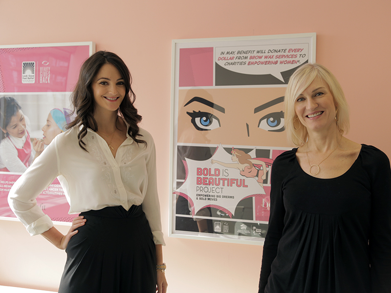Annie Ford Danielson (left), Benefit's global beauty authority, and Jane Nugent, Benefit Canada's general manager, at the Toronto press launch