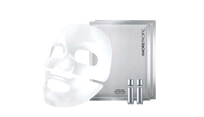 AMOREPACIFIC MOISTURE BOUND INTENSIVE SERUM MASQUE, $99 FOR 6 SHEETS AT HOLT RENFREW AND NORDSTROM CALGARY; $35 FOR 2 SHEETS AT SEPHORA