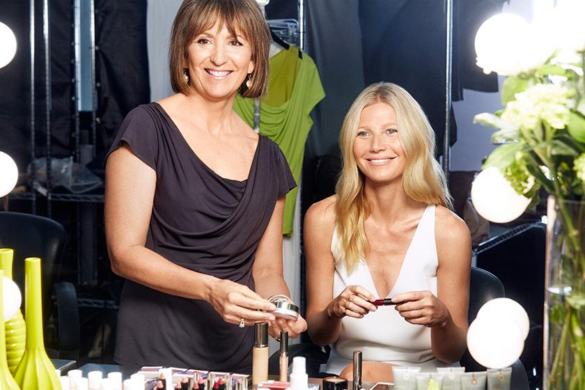 Juice Beauty founder Karen Behnke with creative director of makeup Gwyneth Paltrow