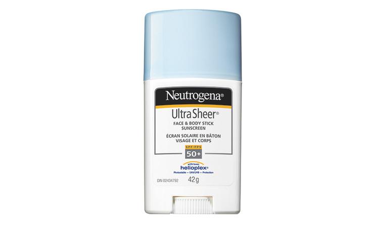 Neutrogena Ultra Sheer Face & Body Stick Sunscreen SPF 50+, $14, at drugstores