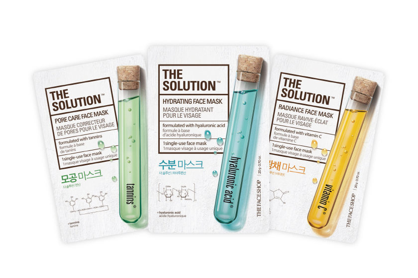 The Face Shop The Solution Masks, $2 each, available August