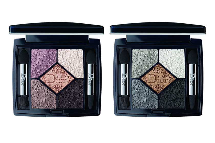 Dior 5 Couleurs Splendor in (from left) Precious Embroidery and Smoky Sequins, $73 each