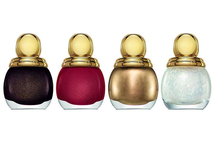 Dior Diorific Vernis in (from left) Cosmic, Splendor, Golden and Nova, $34 each