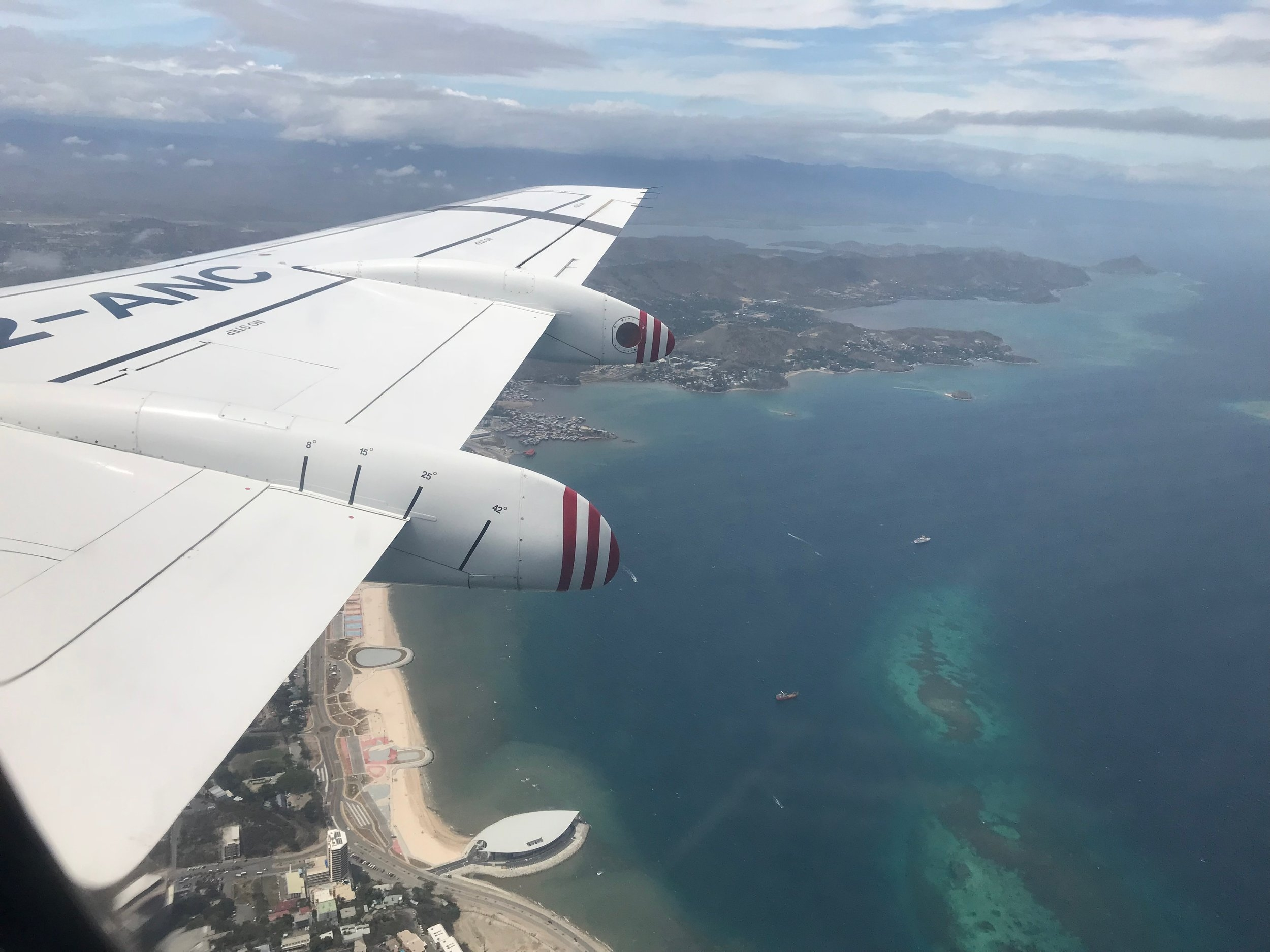 Flying into Port Moresby